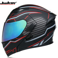 DOT Motorcycle Helmet Flip Up Modular Helmet Full Face Dual Visor Motocross Race
