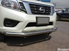 To Fit 2016+ Nissan Navara NP300 Stainless Steel Front Bumper Spoiler Nudge Bar