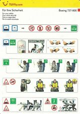 TUIFLY.COM (GERMANY) - BOEING B737-800 - SAFETY CARD - CONSIGNES DE SECURITE