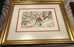 John Ruthven, Frosty Morning, Cardinal Framed 36/500