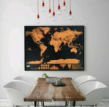 Deluxe Scratch Map Personalized World Scratch Map Scratch Off Foil Layer Poster