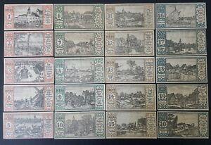 SET OF 20 GERMANY NOTGELD 50 PFENNIG BERLIN 1921