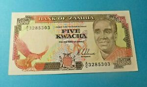 Bank of Zambia 5 KWACHA Bank Note - UNC