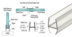 """CRL Multi-Purpose 'H' Wipe for 3/8"""" Glass - 90 in Long"""