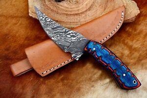 """8""""MH KNIVES CUSTOM HANDMADE DAMASCUS STEEL FULL TANG HUNTING/SKINNER KNIFE D-02X"""
