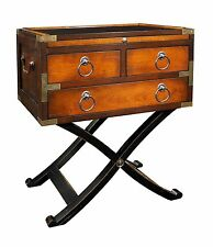 Side Table with Folding Legs - 1883 Style Bombay Campaign Box - Reproduction