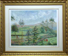 "Pissarro, Claude ""Garden of Yves Saint Laurent"" Signed Artwork framed L@@K!"