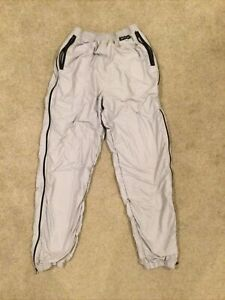 Men's Bellwether Lined Waterproof Cycling Running Pants Gray Side Zip Size M