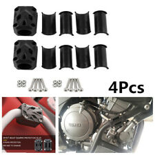 Creative 4Pcs Black Motorcycle Cradle Falling Rubber Bumper Clamps Protection