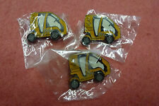 "3 x Fraser Nash ""Yellow Car"" Pins Sydney 2000 Olympic Games"