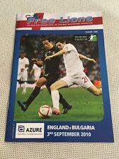 Free Lions - England v Bulgaria - Euro 2012 Qualifier  03.09.2010 - Issue 108