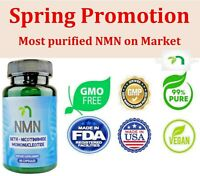 NMN β-Nicotinamide Mononucleotide Pure Potency 500mg / Serve, 60 capsules, NAD+