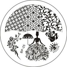 Nail art Stamping plate. BP-25. Born pretty original plate. Stamp manicure gift.