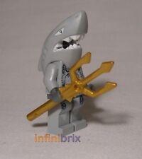 Lego Shark Warrior Minifigure from sets 8057, 8060, 8078 Atlantis NEW atl004