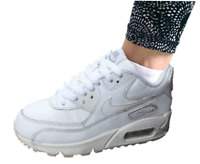 Nike Unisex 833412-100 Air Max 90 Leather Low-Top Trainer/Sneaker white Size 5
