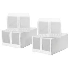 IKEA SKUBB Schuhkarton schwarz 4 Stück Schuhbox BOX 22x34x16cm weiß  4er Set
