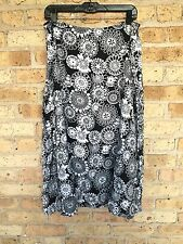 Croft & Barrow Skirt~18~Plus~Black & White~Rayon~Full
