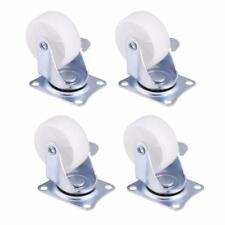 4x Swivel Caster Wheels Castor White Nylon Double Roller Bearing ChairWheels UK