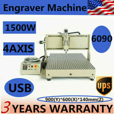 15kw Usb 4 Axis 6090 Cnc Router Engraver 3d Engraving Drilling Milling Machine