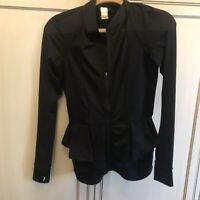 Karen Kane Black Zip Front Activewear Jacket Womens Size XS