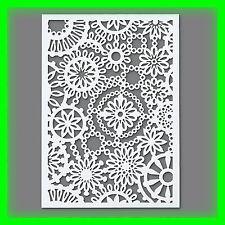 Stencil / Flex- Schablone - Blüten - DIN A5 / 1 teilig - Scrapbooking