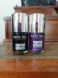 Nails Inc Crackle nail polish bundle x2