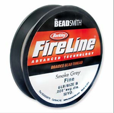 Beadsmith FireLine Beading Thread 6lb, size D, 50yds SMOKE colour