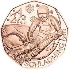 AUSTRIA 5 euro cobre 2012 Mundial de Esquí Schladming 2013