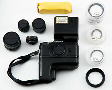PENTAX AUTO 110 CAMERA OUTFIT(MISS JUST CAMERA LEATHER CASE,BOX AND FEW FILTERS)
