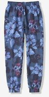 NWT PINK VICTORIA'S SECRET CAMPUS JOGGER PANTS BLUE FLORAL XSMALL FREE SHIPPING!