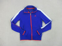 Nike Jacket Adult Medium Blue Pink Swoosh Full Zip Coat Casual Mens 90s B36*