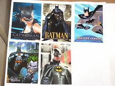 1990'S BATMAN PROMO 5 CARD LOT! ANIMATED MASTER SERIES SAGA DARK KNIGHT CATWOMAN