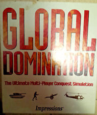 "GLOBAL DOMINATION COMPUTER GAME 1993, IMPRESSIONS, NM COND IN BOX, 3.5"" DISK"