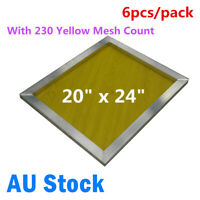 6PACK 20 x24in Aluminum Silk Screen Printing Frame with 90T / 230 Mesh Count