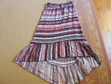 LADIES BEAUTIFUL MULTI COLOURED STAGGERED LENGTH SKIRT BY KATIES - SIZE 8 CHEAP