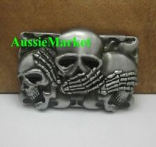 Unbranded Skeleton & Skulls Metal Belt Buckles for Men