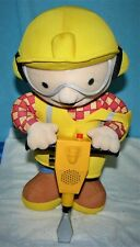 "Bob The Builder Talking Jack Hammer Toy Plush Hasbro 2001 13"" Tested and Working"
