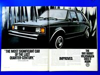 "1981 Volkswagen Rabbit  VW Does It Again 2 page Original Print Ad-8.5 x 11"""