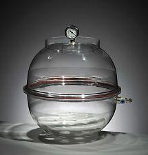 """Azzota Round Vacuum Desiccator with vacuum gauge, Dia 12"""", 16.5L"""