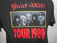 Vintage 80s 1989 Brockum Great White Tour T-Shirt Fits M/L