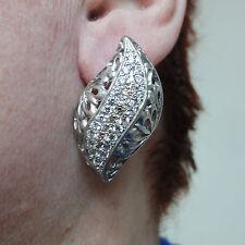 TOPAZ STERLING SILVER EARRINGS natural gemstone HANDMADE 925 wedding NEW