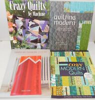 Lot of 4 Quilt Books, Quilting Patterns Instruct Modern, Bold Designs