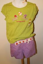 Gymboree Pretty Posies Girls Size 4T Puppy Dog Top Shirt NWT Floral Shorts NEW