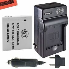 BM NB-4L Battery & Charger Kit Canon Vixia mini PowerShot Elph 310 HS SD1100 IS