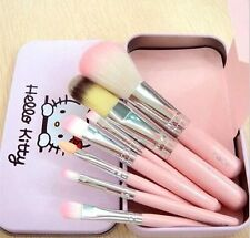 7pcs/lot Hello Kitty KT Makeup Foundation Eyeshadow Eyeliner Cosmetic Brush Set