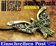 Steampunk Mechanische Engelsflügel Anhänger mit Zahnrädern - Halsschmuck Engel