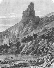FRANCE. Alps of Dauphine. The Aiguille Peak, Dauphine c1878 old antique print