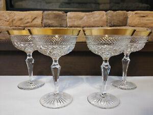 Josephinenhütte Ernestine Bleikristall Sekt Champagnerschalen TOP Zustand!!