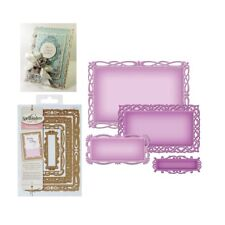 Spellbinder metal dies Romantic Rectangles Two Frames Die Cut Set S5-211 Lace
