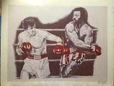 Rocky ~ Balboa vs Apollo Classic Art Print By Patrick J Killian